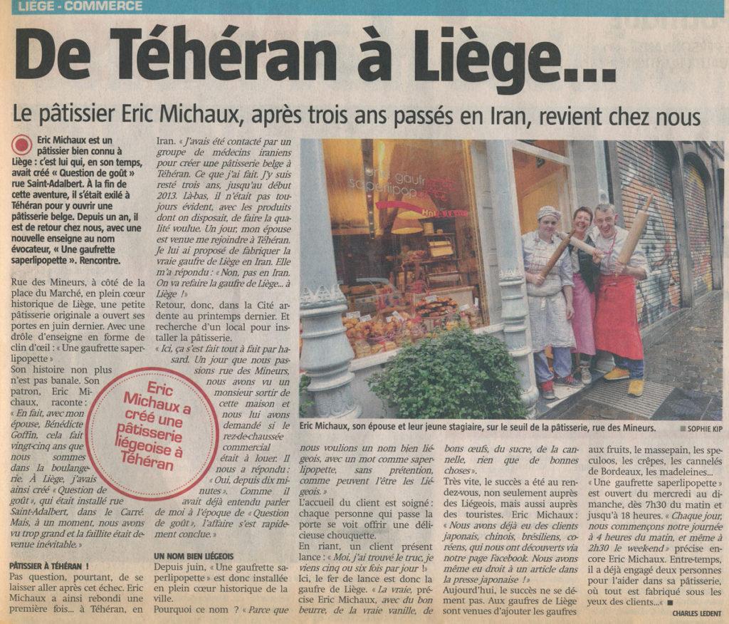 Coupure de Presse Sudpresse