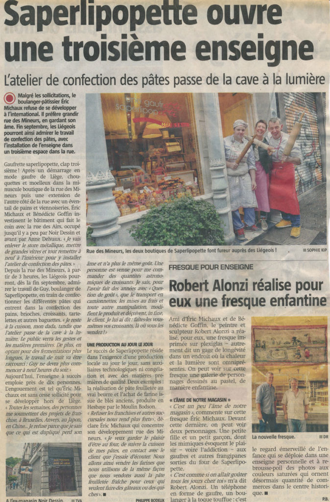 Coupure de Presse Sudpresse Aout 2015
