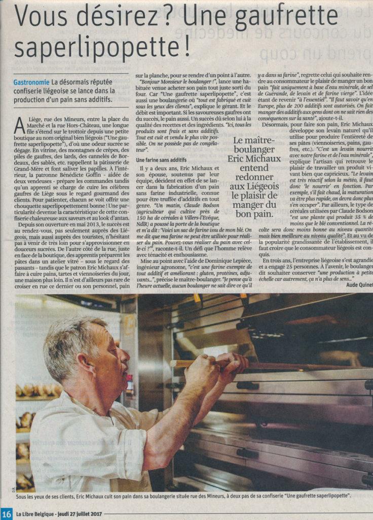 Coupure de Presse La_Libre_Belgique